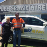 Lisa and Colin of Gladstone's Lee Crane Hire
