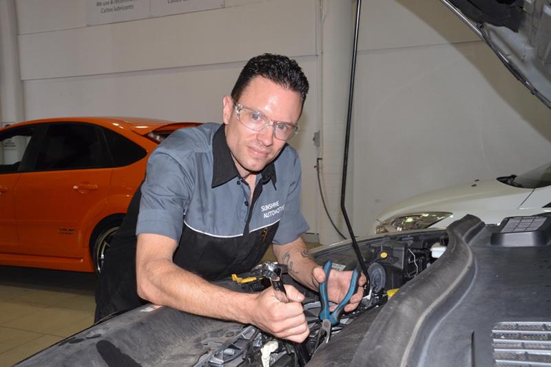 Ricky, 2nd year apprentice at Sunshine Automotive
