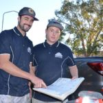 Build FX Constructions Director Lucan Campbell and his new apprentice, Kyatt Watson