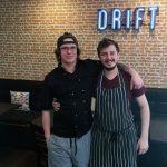Apprentice Brandon Whannell with Head Chef Braedan Allen of Drift Café