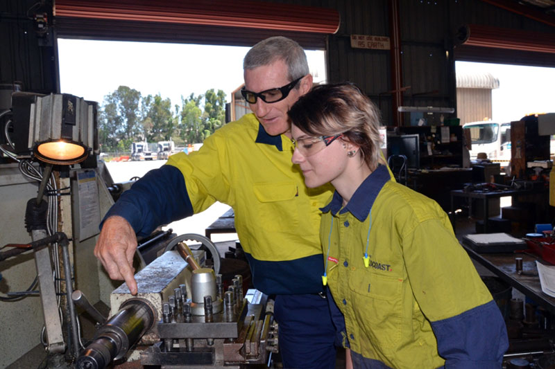 Anika with supervisor, Andy Davenport