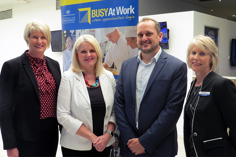 Minister Andrews with BUSY At Work Executives